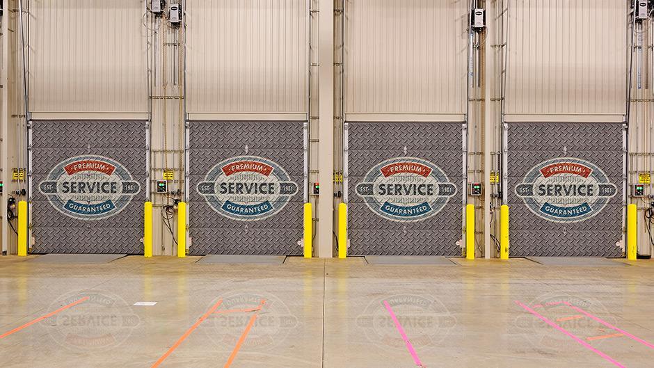 Custom Print Garage Doors - Company Logos on Garage Door
