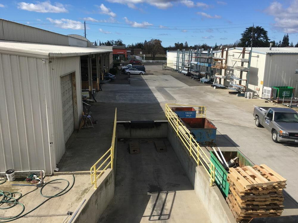Barton Overhead Door Modesto yard.