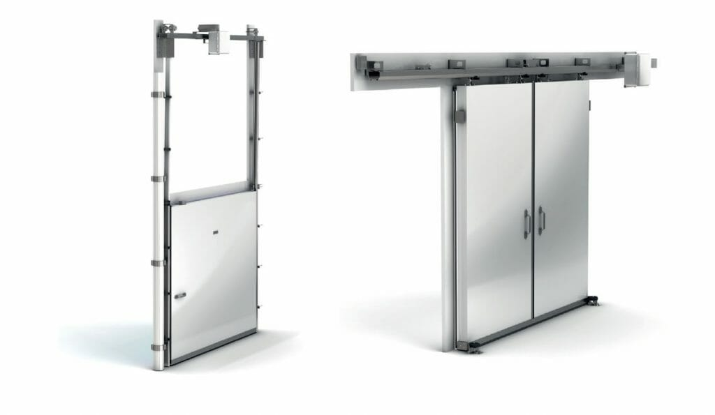biparting and vertical lift freezer doors