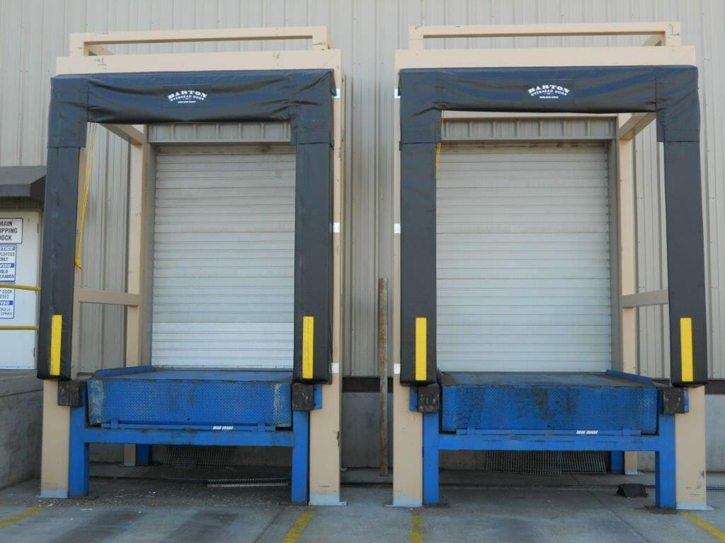 loading dock seals and shelters installed.