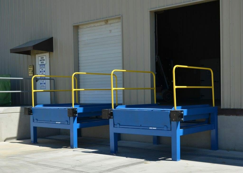 Installed Loading dock levelers
