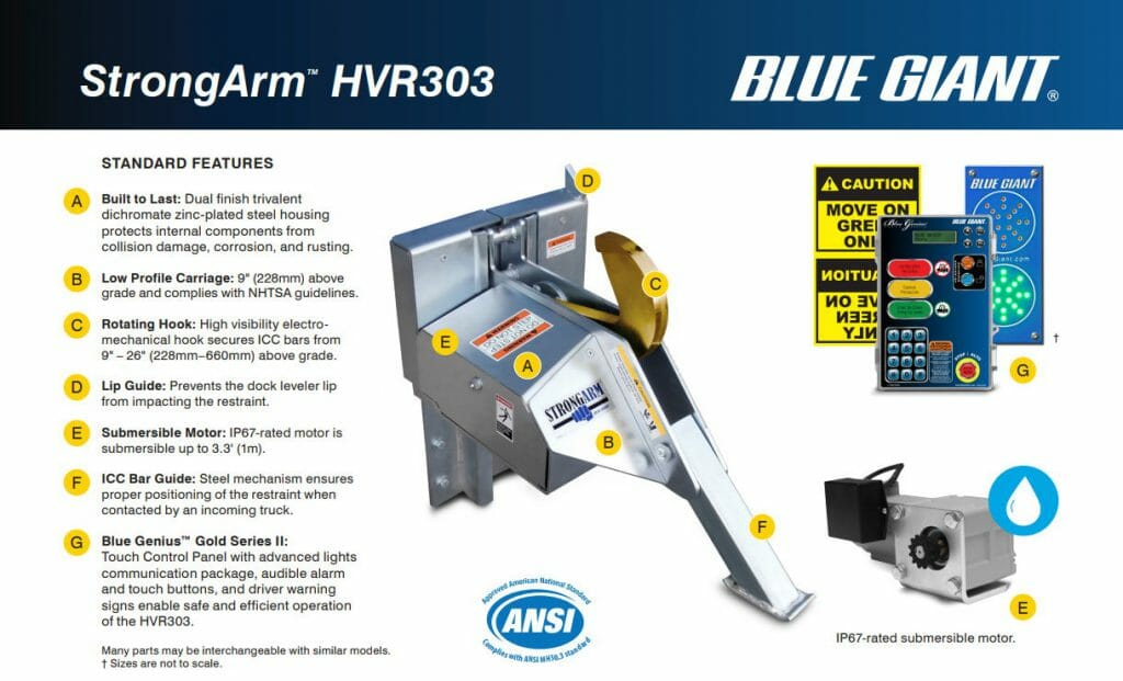 Screenshot of blue giant strong arm brochure
