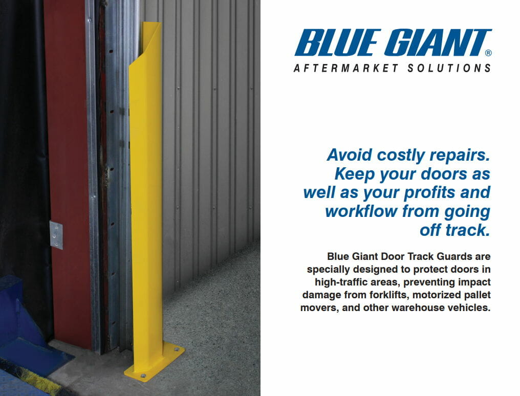 door track guards for loading dock