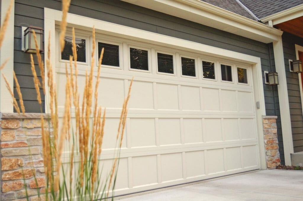 Desert Tan Recessed panel garage door