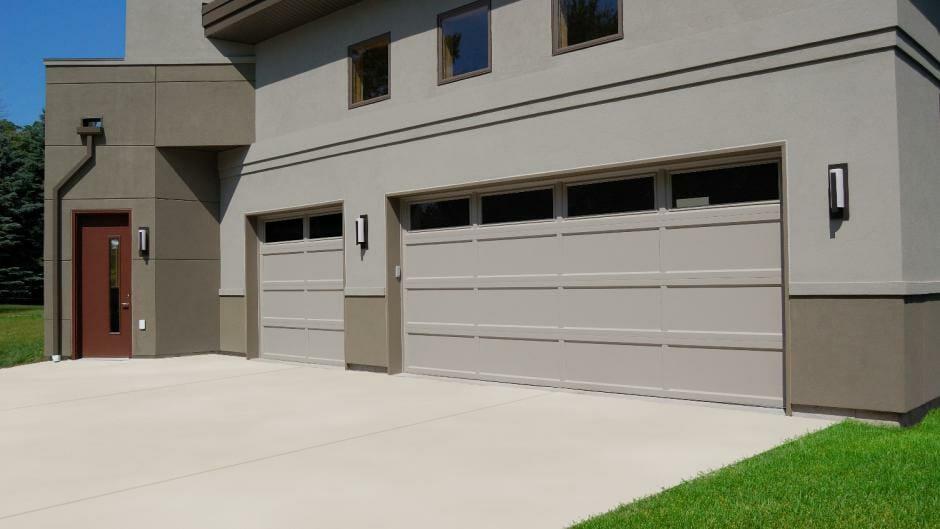 Brown Recessed panel garage door