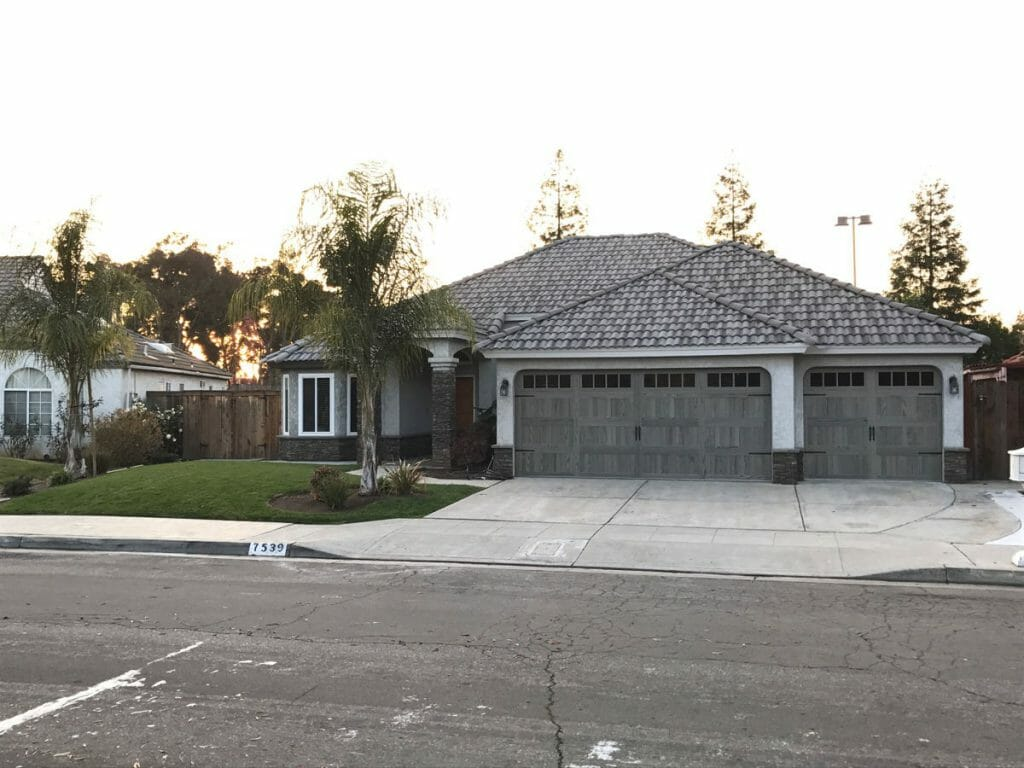 Grey Garage Doors installed in a home.