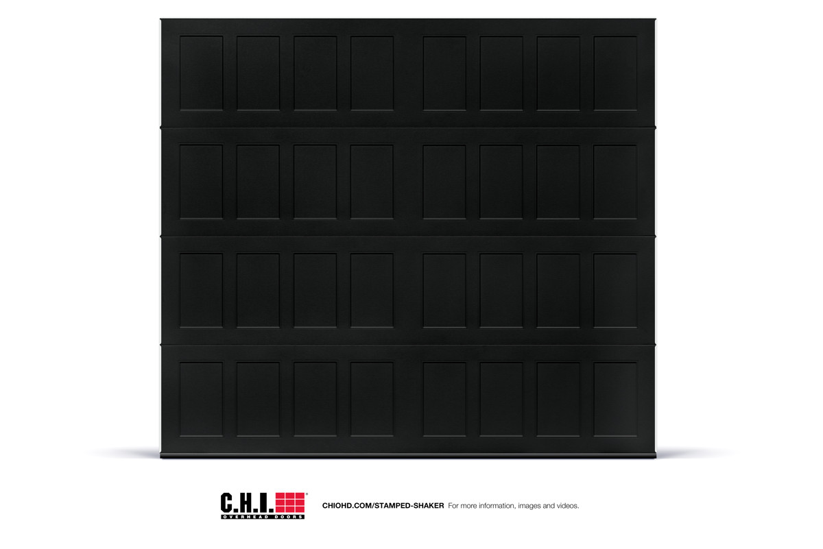 CHI Stamped Shaker Panel Black Studio Shot