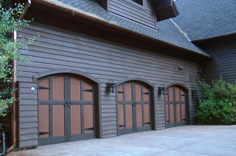 carriage house doors, three