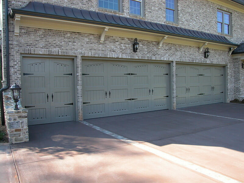 grey custom garage doors wood