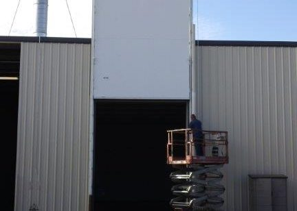 Installed Door with Seals for Fumigation Chamber