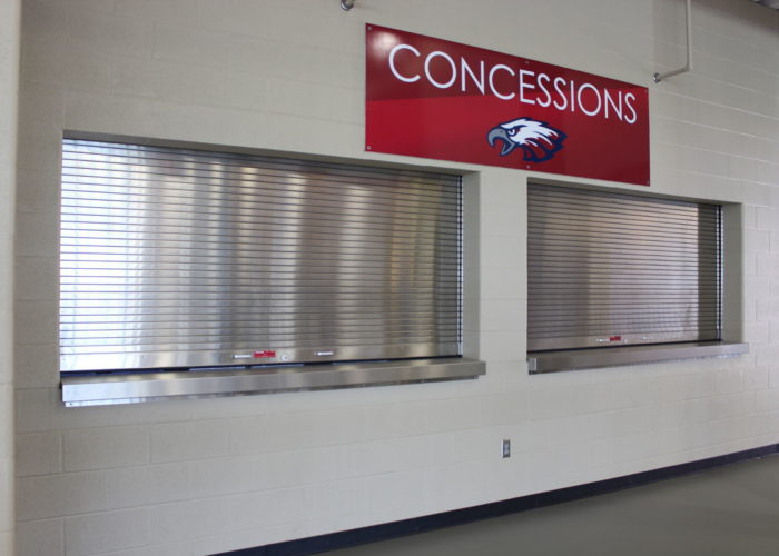 Stadium Concession With Rolling Counter Door