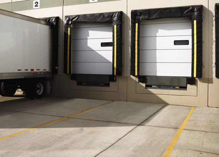 Sectional Doors in a loading dock