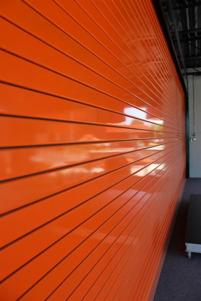 Orange Slats on a Cookson Door