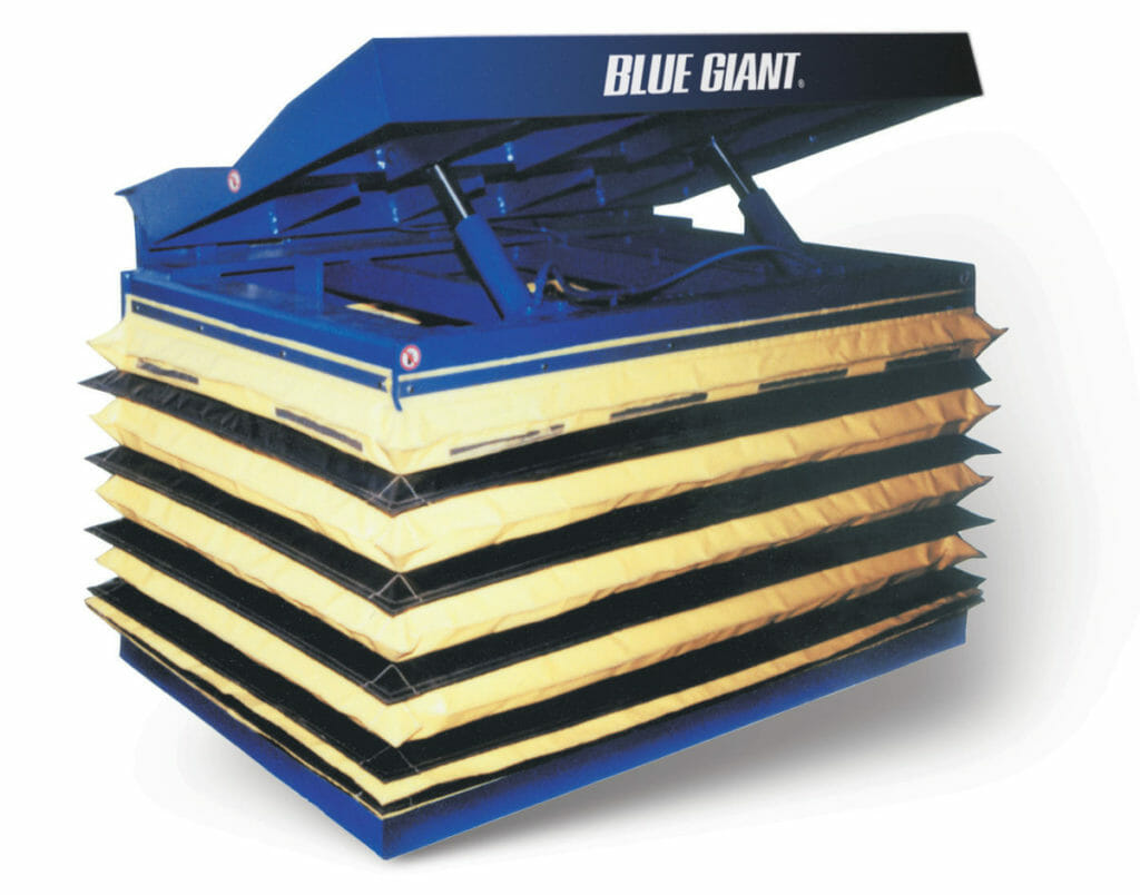 Blue Giant Lift Table Airbags