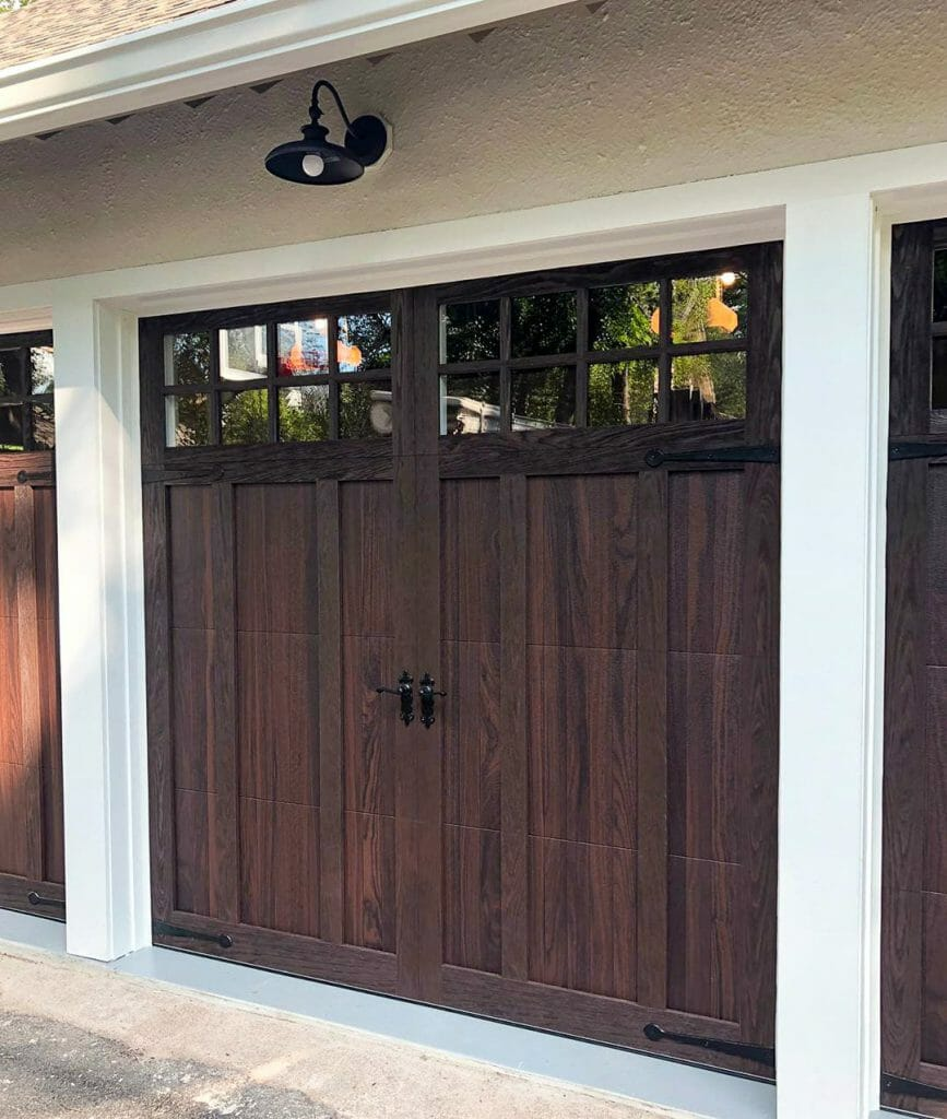 A CHI Shoreline garage door installed.