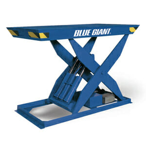Industrial Lift Table with white background
