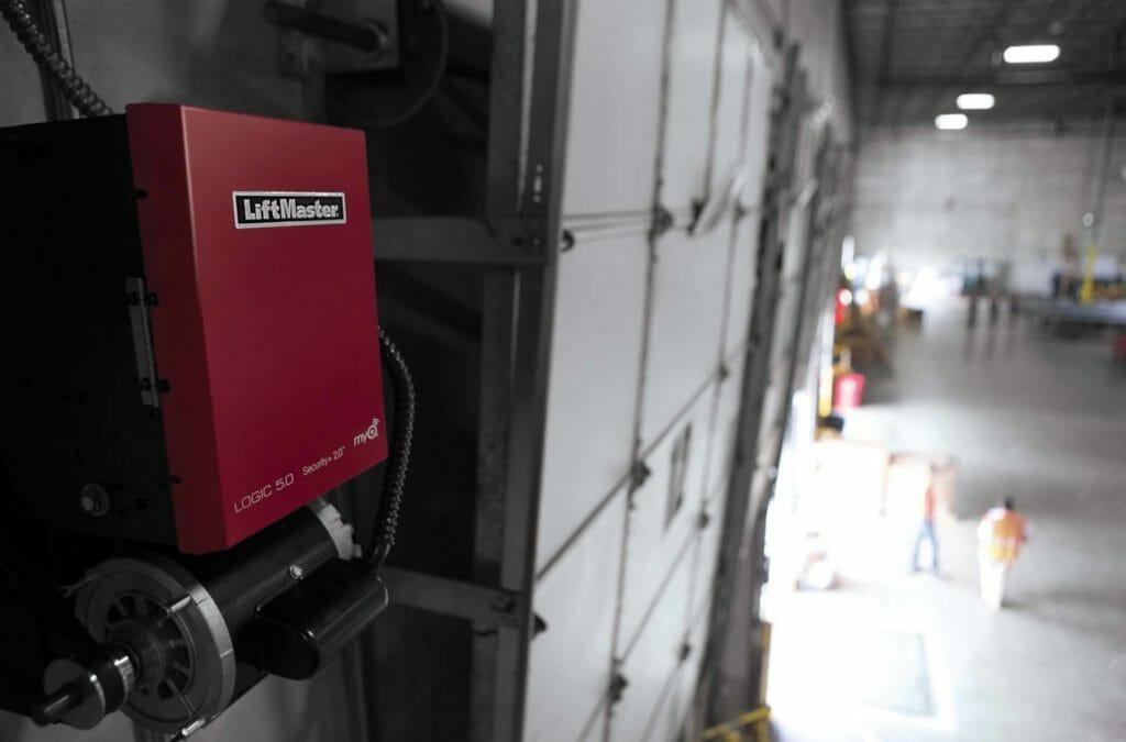A COmmercial Door Operator Installed in a warehouse door.