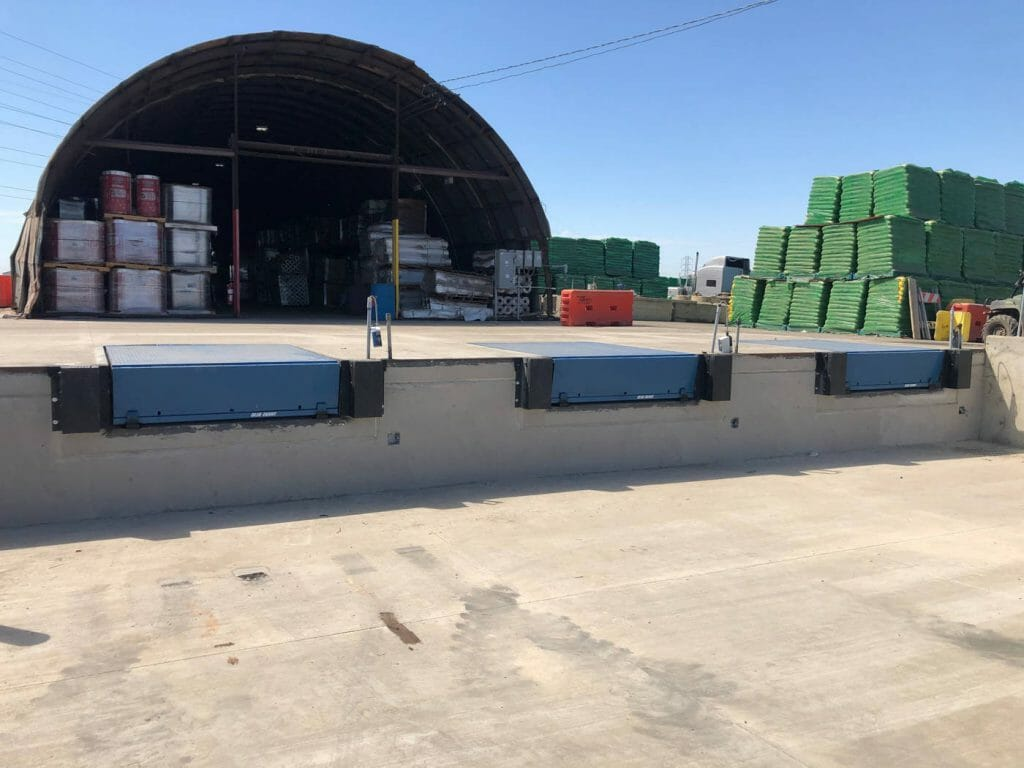 Three Loading Dock levelers installed in stockton