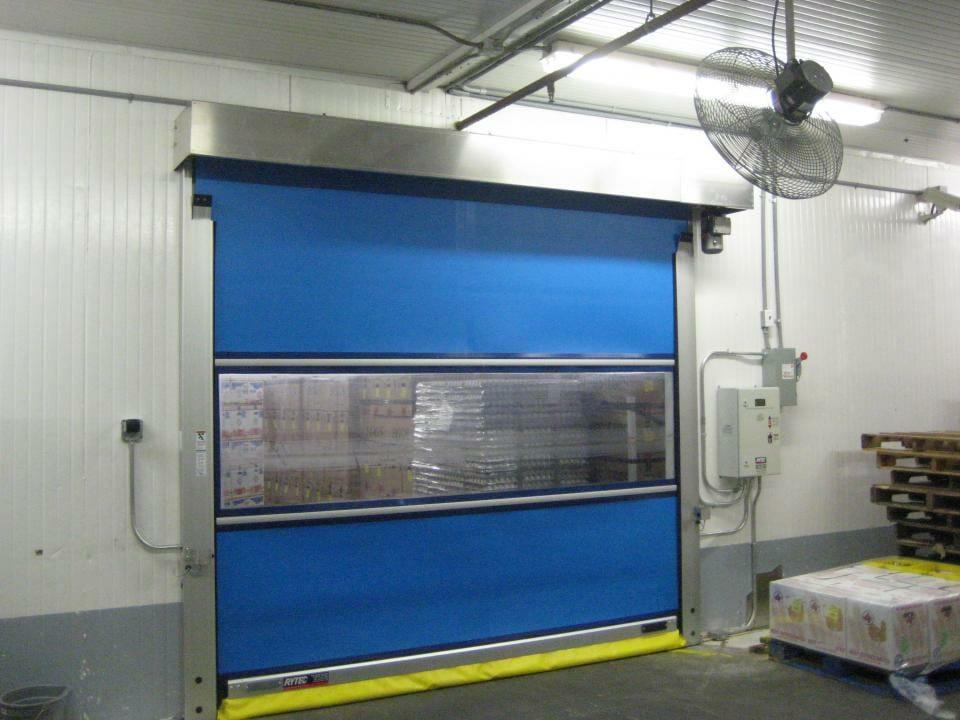 Blue Predadoor High speed door installed