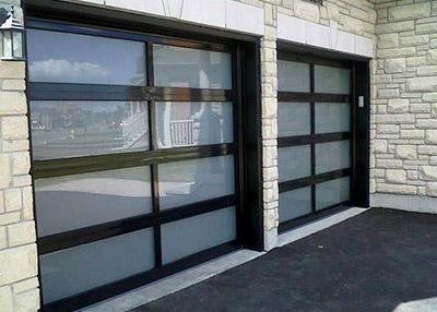 E  Black Full View Doors