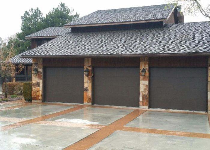 Flush Panel Garage Door Barton Overhead Door Inc