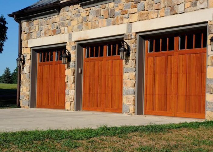 Wood overlay garage door ... & CHI Overlay Carriage Door | Barton Overhead Door Inc. pezcame.com