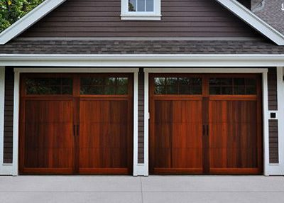 Wood overlay garage door; Dark Stained Wood CHI Door ... & CHI Overlay Carriage Door | Barton Overhead Door Inc. pezcame.com