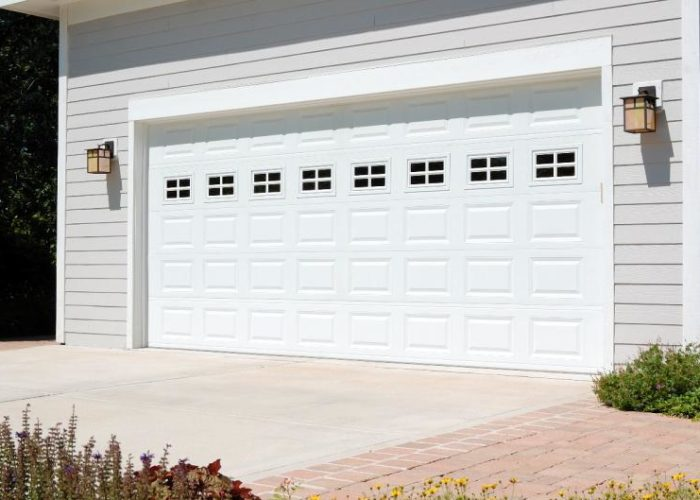 Traditional White Short Panel Garage Door