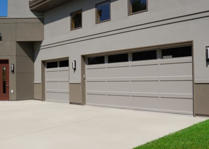 Long Panel Recessed Panel Garage Door