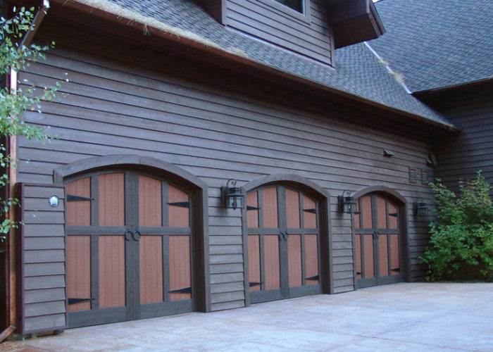 Painted Wood Carriage House Garage Doors