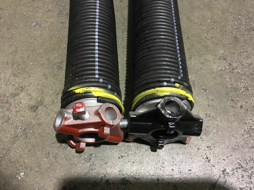 Left and Right Garage Door Torsion Springs