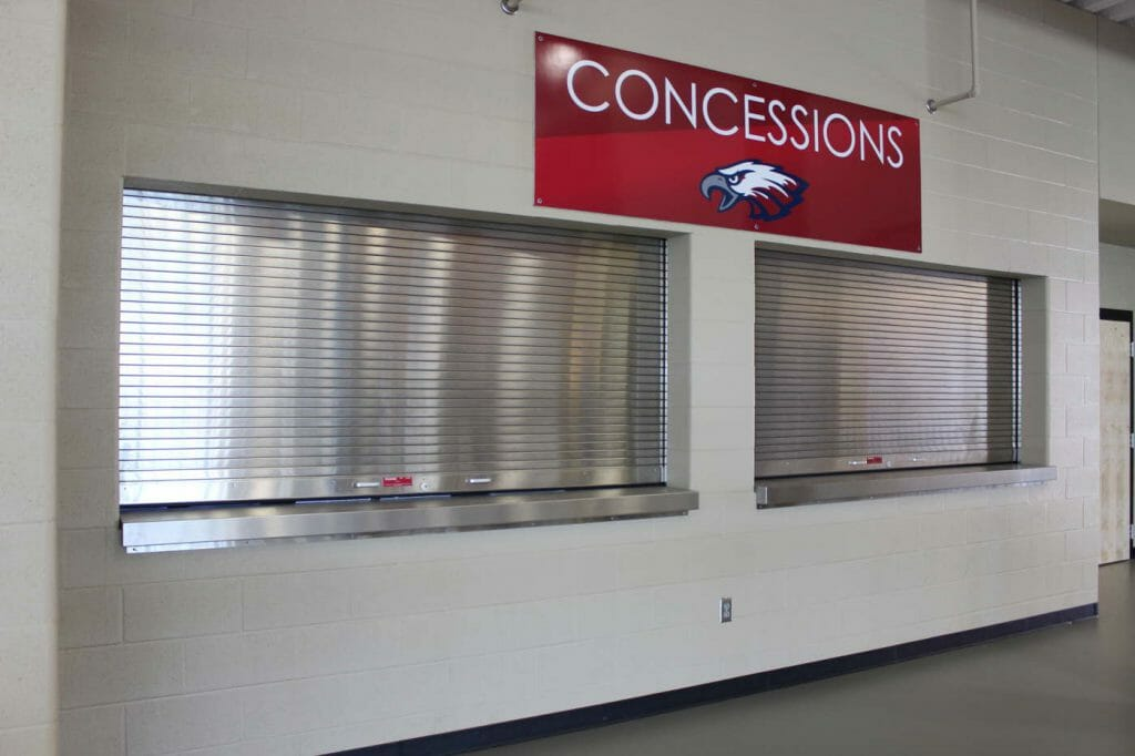 Two Counter Shutters Installed in School
